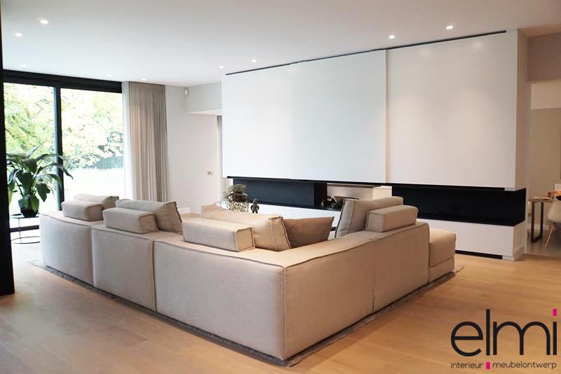 Luxe Interieur Ontwerp : Salon design d interieur un canapé beige dans un simple salon